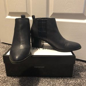 Nine West leather booties, size 7